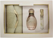 Sarah Jessica Parker Lovely Gift Set 100ml EDP + 10ml Rollerball + Gold Clutch