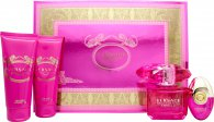 Versace Bright Crystal Absolu Gift Set 90ml EDP + 100ml Body Lotion + 100ml Shower Gel + 10ml EDP Rollerball