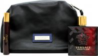 Versace Eros Flame Gift Set 100ml EDP + 10ml EDP + Toiletry Bag