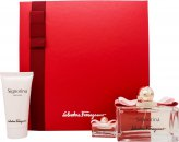 Salvatore Ferragamo Signorina Gift Set 100ml EDP + 50ml Body Lotion + 5ml EDP