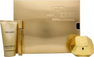 Paco Rabanne Lady Million Gift Set 50ml EDP + 75ml Body Lotion + 10ml EDP