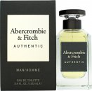 Abercrombie & Fitch Authentic Man Eau de Toilette 3.4oz (100ml) Spray