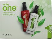 Revlon Uniq One Gift Set 150ml Classic Treatment + 150ml Green Tea Treatment
