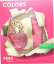Benetton Colors de Benetton Pink Gift Set 80ml EDT + 75ml Body Lotion