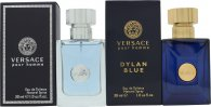 Versace Homme Gavesett 30ml Pour Homme EDT + 30ml Pour Homme Dylan Blue EDT