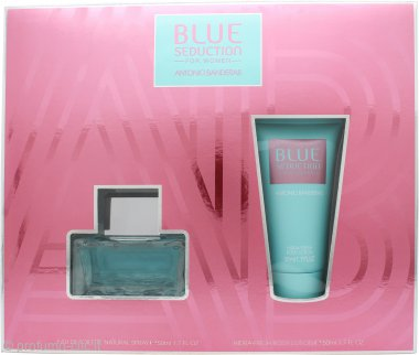 Antonio Banderas Blue Seduction for Women Gift Set 50ml EDT + 50ml Body Lotion
