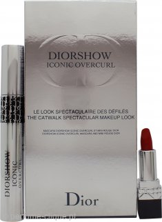Christian Dior Diorshow Iconic Overcurl Gift Set 10ml Mascara Diorshow Iconic Overcurl + 1.5g Mini Rouge Dior 999