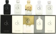 Calvin Klein Deluxe Fragrance Travel Collection Miniature Set Regalo 5 Pezzi