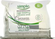 Simple Age Resisting Cleansing Wipes - 25 Wipes