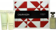 Calvin Klein Eternity Gift Set 50ml EDP + 100ml Shower Gel + 100ml Body Lotion