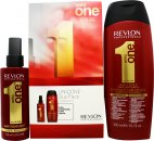 Revlon Uniq One All In One Hair Treatment Gift Set 300ml Shampoo + 150ml Classic Hair Treatment