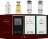Cartier Miniatures For Men Gavesett 4ml Declaration EDT + 5ml L'Envol EDP + 5ml Eau de Cartier EDT + 5ml Eau de Cartier Concentrée EDT