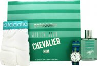 Golddigga Julien Jean Chevalier Gift Set 100ml EDT + Watch + Boxer Shorts
