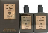 Acqua di Parma Colonia Leather Gift Set 2 x 1.0oz (30ml) EDC Travel Spray Refills