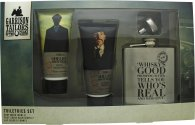 Garrison Tailors Peaky Blinders Shelby Brothers Gift Set 100ml Soothing Post-Shave Balm + 100ml Body Wash + Hip Flask