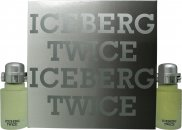Iceberg Twice Pour Homme Gift Set 75ml EDT + 75ml Aftershave Lotion