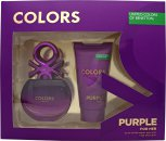 Benetton Colors de Benetton Purple Gift Set 50ml EDT + 50ml Body Lotion