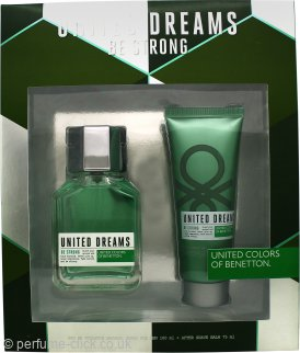 Benetton United Dreams Men Be Strong Gift Set 100ml EDT + 75ml Aftershave Balm
