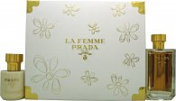 Prada La Femme Gift Set 100ml EDP + 100ml Body Lotion