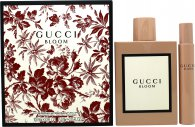 Gucci Bloom Gift Set 3.4oz (100ml) EDP +7.4ml EDP