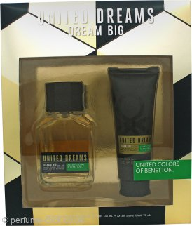 Benetton United Dreams Dream Big for Men Gift Set 100ml EDT + 75ml Aftershave Balm