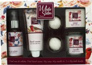 Taylor of London White Satin Geschenkset 75ml EDT + 75ml Hand Creme + 50g Seife + 60g Kerze + 2 x 20g Bade Bombs