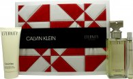 Calvin Klein Eternity Gift Set 100ml EDP + 100ml Body Lotion + 10ml EDP