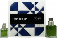 Calvin Klein Eternity For Men Eau de Parfum Gift Set 3.4oz (100ml) EDP + 1.0oz (30ml) EDP