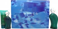Giorgio Beverly Hills Wings for Men Gift Set 50ml EDT + 100ml Aftershave + 100ml Shower Gel