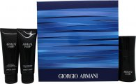Giorgio Armani Armani Code Pour Homme Gift Set 1.7oz (50ml) EDT + 2.5oz (75ml) Aftershave Balm + 2.5oz (75ml) All Over Body Shampoo
