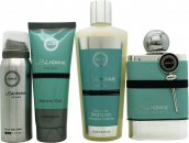 Armaf Blue Homme Gift Set 100ml EDT + 100ml Shower Gel + 240ml Shampoo + 50ml Body Spray