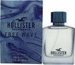 Hollister Free Wave For Him Eau de Toilette 50ml Spray