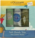 L'Occitane Gift Set 3 x 30ml Hand Cream - Shea Butter + Verbena + Almond