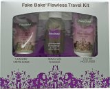 Fake Bake Flawless Travel Kit 2.7oz (80ml) Self Tan Liquid + 2.0oz (60ml) Body Scrub + 2.0oz (60ml) Oil Free Moisturiser