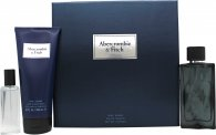 Abercrombie & Fitch First Instinct Blue Gift Set 100ml EDT + 15ml EDT + 200ml Hair & Body Wash