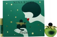 Nina Ricci Bella Gift Set 80ml EDT + 4g Red Lipstick