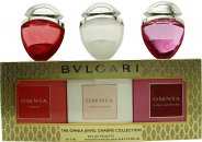 Bvlgari Omnia Jewels Charms Fragrance Gift Set 15ml Crystalline EDT + 15ml Coral EDT + 15ml Pink Sapphire EDT