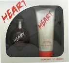 Concept V Design Heart Gift Set 3.4oz (100ml) EDT + 6.8oz (200ml) Body Lotion