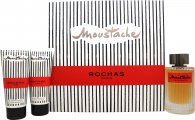 Rochas Moustache Eau de Parfum Gift Set 125ml EDP + 100ml Shower Gel + 100ml Aftershave Balm