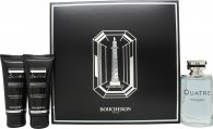 Boucheron Quatre Pour Homme Gift Set 3.4oz (100ml) EDT + 3.4oz (100ml) Aftershave Balm + 3.4oz (100ml) Shower Gel