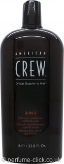 American Crew 3-in-1 Shampoo, Conditioner & Body Wash 1000ml