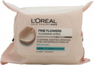 L'Oreal Paris Fine Flowers Cleansing Wipes 25 Pieces - For Normal to Combination Skin