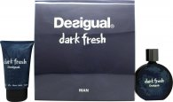 Desigual Dark Fresh Gift Set 100ml EDT + 100ml Aftershave Balm