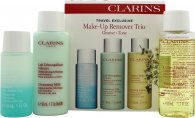Clarins Make Up Removal Trio 30ml Instant Eye Make Up Remover + 50ml Cleansing Milk + 50ml Toning Lotion