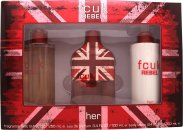 FCUK Rebel For Her Gift Set 100ml EDT + 250ml Body Lotion + 250ml Fragrance Mist