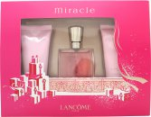 Lancome Miracle Gift Set 30ml EDP + 50ml Body Lotion + 50ml Shower Gel
