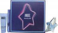 Thierry Mugler Angel Gift Set 25ml EDP Refillable + 50ml Body Lotion + 7ml Perfuming Brush