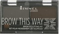 Rimmel Brow This Way Brynsformende Sett 3.3g - 003 Dark Brown