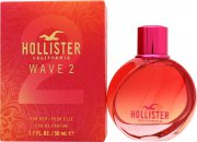 Hollister Wave 2 For Her Eau de Parfum 1.7oz (50ml) Spray
