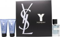 Yves Saint Laurent Y Gavesett 60ml EDT + 50ml Dusjsåpe + 50 Aftershave Balm